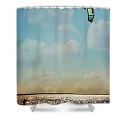 Just Enough Wind Shower Curtain by Lana Trussell