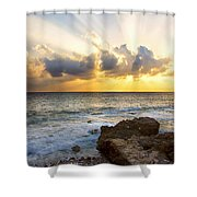 Kaena Point State Park Sunset 2 - Oahu Hawaii Shower Curtain by Brian Harig
