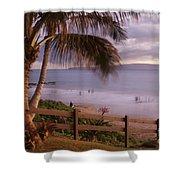 Kai Makani Hoohinuhinu O Kamaole - Kihei Maui Hawaii Shower Curtain by Sharon Mau