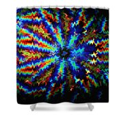 Kaleidoscope Light Perception 4 Shower Curtain by Lanjee Chee