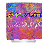 Kannon - Unchained And Free Shower Curtain by Christopher Gaston