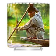 Kashmir Dream Impasto Shower Curtain by Steve Harrington