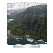 Kee Beach Along The Na Pali Coast - Kauai Hawaii Shower Curtain by Brian Harig
