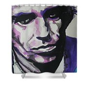 Keith Richards Shower Curtain by Chrisann Ellis