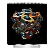 Kepler's Dream Shower Curtain by Manny Lorenzo