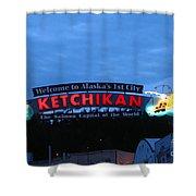 Ketchikan Shower Curtain by Robert Bales