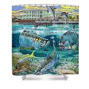 Key Largo Grand Slam Shower Curtain by Carey Chen