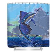 Key Sail Off0040 Shower Curtain by Carey Chen