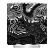 Keys Shower Curtain by Jack Zulli