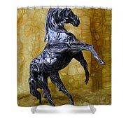Kickin' Shower Curtain by Jack Zulli