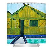 Kiddie House Shower Curtain by Lorna Maza