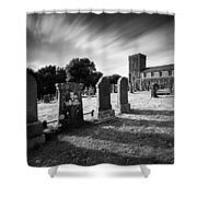Kilmartin Parish Church Shower Curtain by Dave Bowman