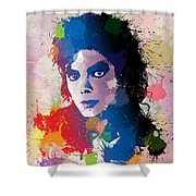 King Of Pop Shower Curtain by Anthony Mwangi