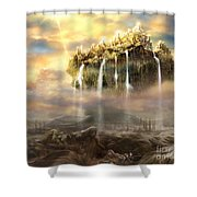 Kingdom Come Shower Curtain by Tamer and Cindy Elsharouni