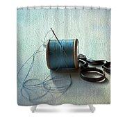Kingfisher Blue Shower Curtain by Jan Bickerton