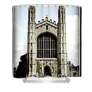 King's College Chapel - Poster Shower Curtain by Stephen Stookey
