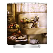 Kitchen - A 1930's Kitchen  Shower Curtain by Mike Savad
