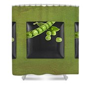Kitchen Art - Peas - 02t01b Shower Curtain by Aimelle