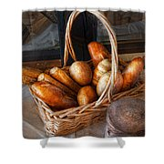 Kitchen - Food - Bread - Fresh Bread  Shower Curtain by Mike Savad