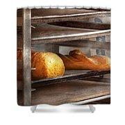 Kitchen - Food - Bread - Freshly baked bread  Shower Curtain by Mike Savad