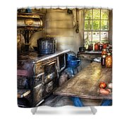 Kitchen - Home Country Kitchen Shower Curtain by Mike Savad