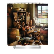 Kitchen - Nothing Like Home Cooking Shower Curtain by Mike Savad