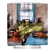 Kitchen - Old Fashioned Kitchen Shower Curtain by Mike Savad
