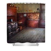 Kitchen - Storybook Cottage Kitchen Shower Curtain by Mike Savad