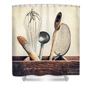 Kitchenware Shower Curtain by Priska Wettstein