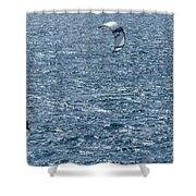 Kite Surfing Shower Curtain by Brian Roscorla