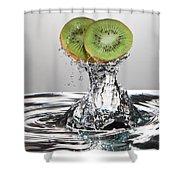 Kiwi FreshSplash Shower Curtain by Steve Gadomski