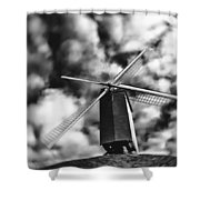 Koelewei Mill Shower Curtain by Wim Lanclus