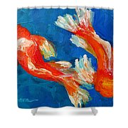 Koi Fish Shower Curtain by Patricia Awapara