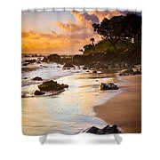 Koki Beach Sunrise Shower Curtain by Inge Johnsson