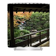 Kokoen Garden - Himeji City Japan Shower Curtain by Daniel Hagerman