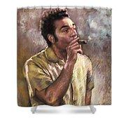 Kramer Shower Curtain by Ylli Haruni