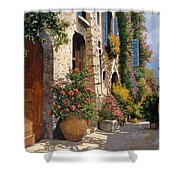 La Bella Strada Shower Curtain by Guido Borelli