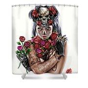 La Calavera Catrina Shower Curtain by Pete Tapang