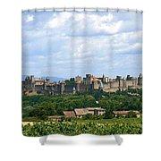 La Cite De Carcassonne Shower Curtain by France  Art