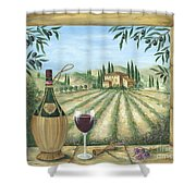 La Dolce Vita Shower Curtain by Marilyn Dunlap