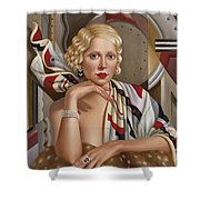 La Femmeen Soiehi  Shower Curtain by Catherine Abel