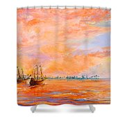 La Florida Shower Curtain by AnnaJo Vahle