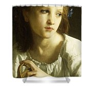 La Petite Ophelie Shower Curtain by William Adolphe Bouguereau