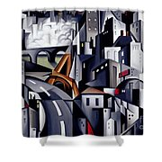La Rive Gauche Shower Curtain by Catherine Abel