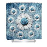 La Ronde Des Marguerites - Blue V02 Shower Curtain by Variance Collections