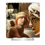 Ladies Of Rodeo Drive Shower Curtain by Chuck Staley
