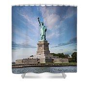 Lady Liberty Shower Curtain by Juli Scalzi