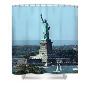 Lady Liberty Shower Curtain by Kristin Elmquist