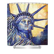 Lady Liberty Shower Curtain by Linda Mears