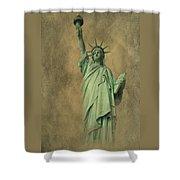 Lady Liberty New York Harbor Shower Curtain by David Dehner